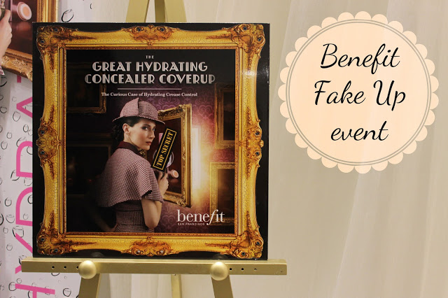 A picture of the benefit fake up event