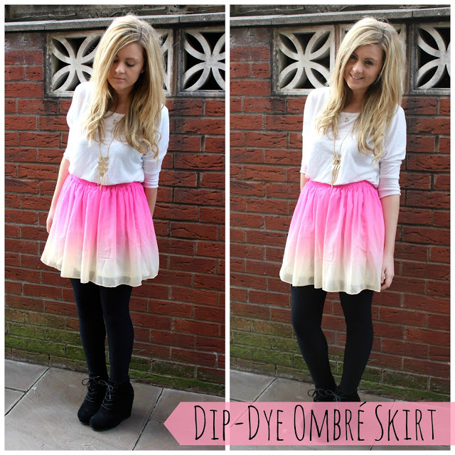 a picture of dip dye ombre lavish alice skirt ootd