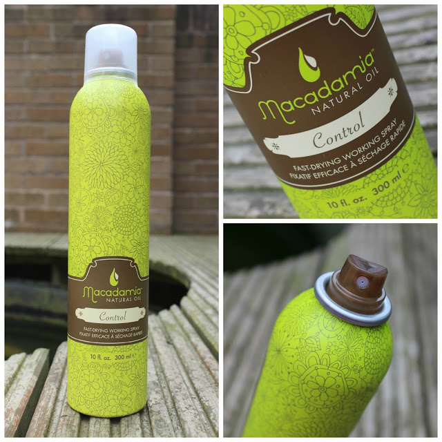 a picture of macadamia control hair spray