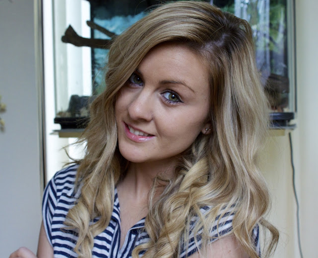 through chelseas eyes hair styled using the ghd style curl hold spray