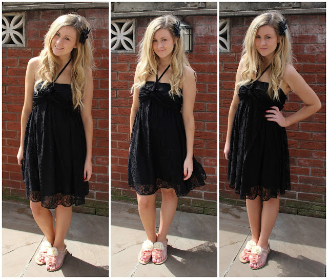 through chelseas eyes wearing the mina uk the Antoinette Lace Dress