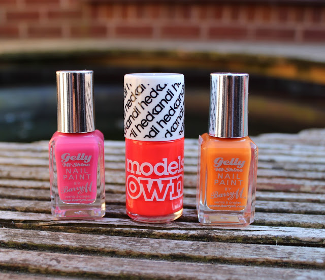 summer nail polishes, barry m, models own, barry m gel shine,