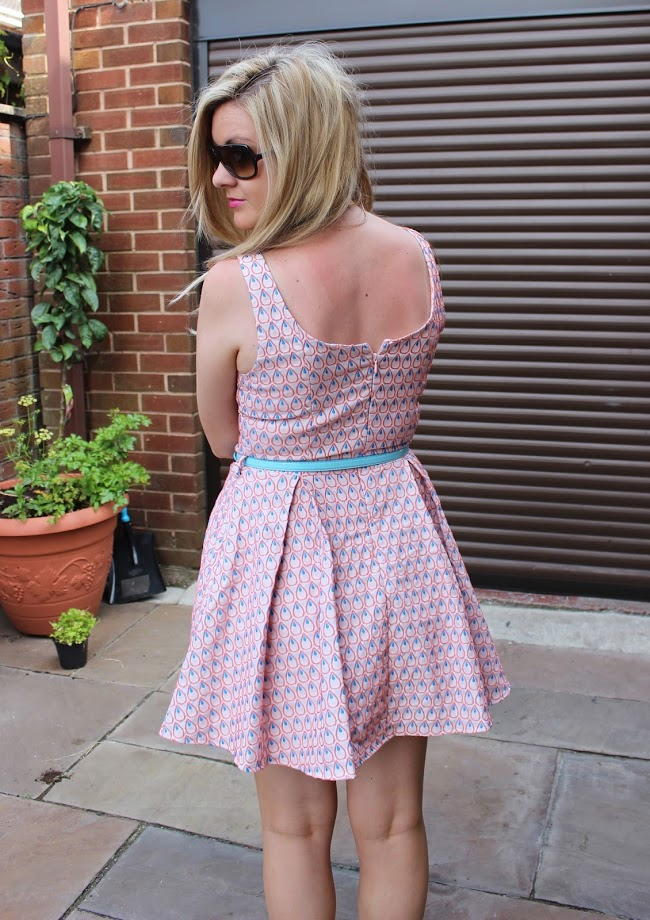back view, Little Mistress Skater Dress, skater dress, through chelseas eyes, sun dress