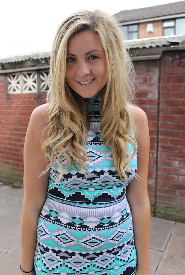 through chelsea's eyes, aztec, aztec midi dress, peacocks midi dress,