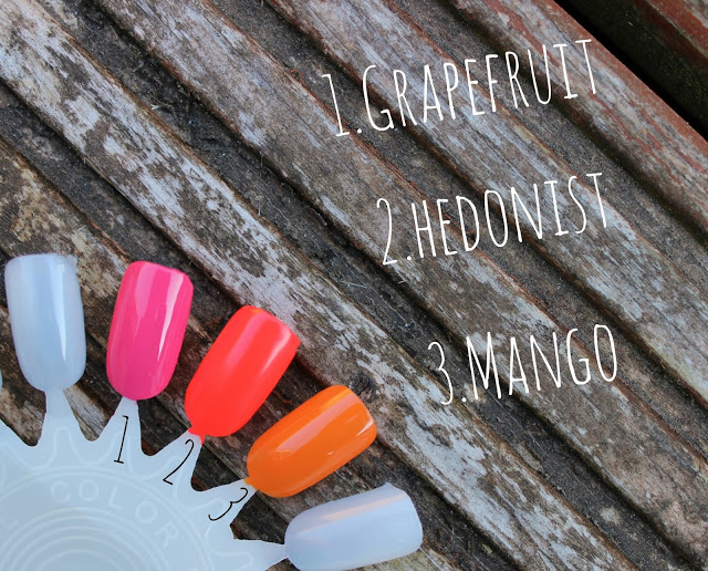 swatched, summer nail polishes, barry m, models own, barry m gel shine, barry m mango, barry m grapefruit, models own hedonist,