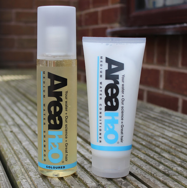 area h20, medium water shampoo, medium water conditioner, through chelsea's eyes