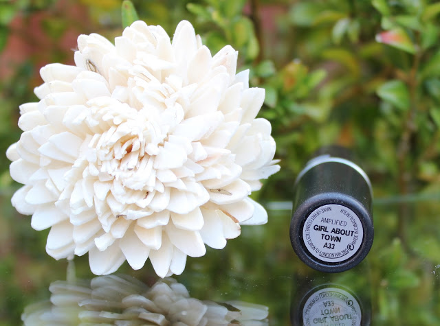 mac, mac girl about town, mac amplified lipstick, review, through chelsea's eyes