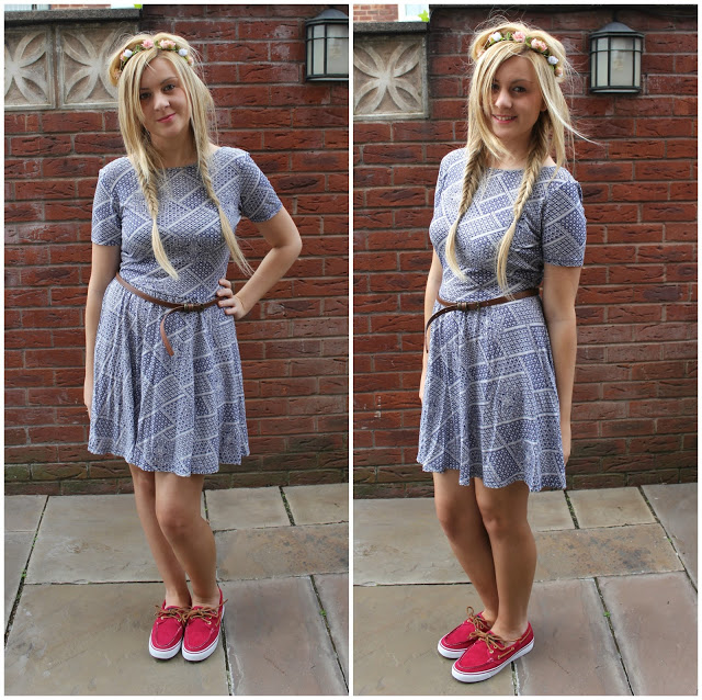 ootd, skater dress, through chelseas eyes, sperry boat shoes, deck shoes, sperry