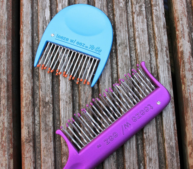 back comb, comb, combs on the go, review, teeze, teeze w/eez, hair back comb brush, through chelsea's eyes,