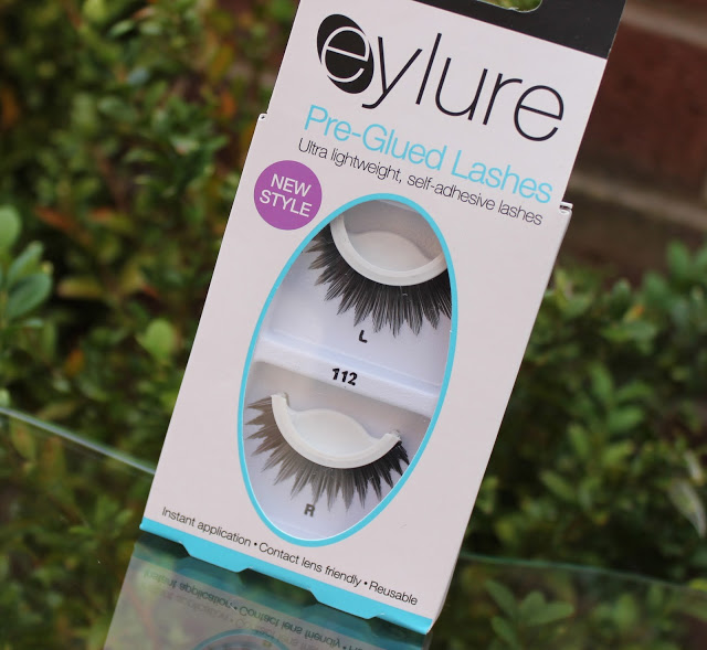 pre glues lashes, eylure, Eylure Pre-Glued Lashes 112, false eye lashes, easy lashes, review, through chelsea's eyes,