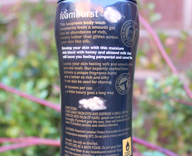 imperial leather, foamburst, imperial leather foamburst, imperial leather foamburst honey and almond milk, foaming shower gel, review, through chelsea's eyes,