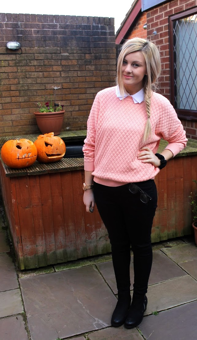 jumper, knitwear, collar, collared jumper, outfit, ootd, fashion , through chelsea's eyes,