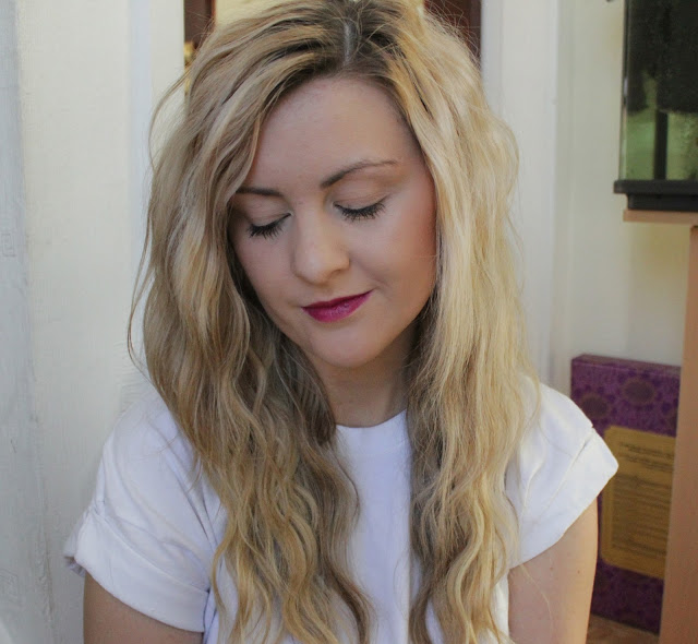 mac, mac rebel, lipstick, Mac lipstick, mac rebel lipstick, review, through chelsea's eyes, swatch, mac rebel being worn