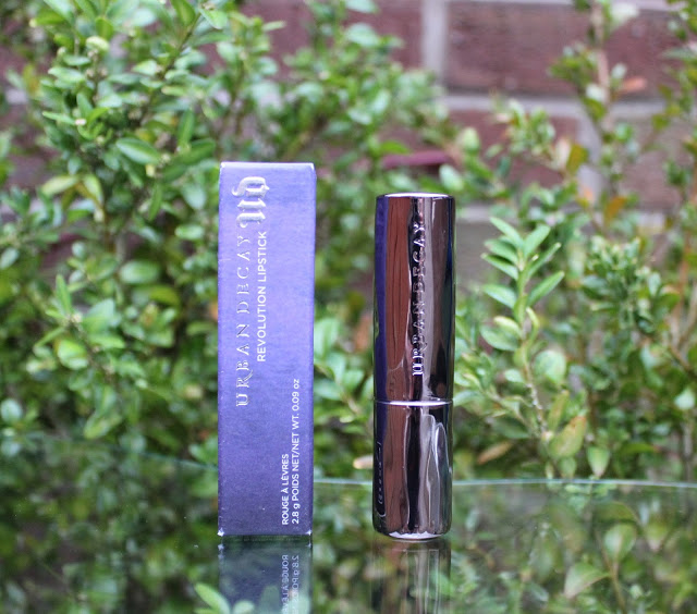 urban decay, urban decay revolution lipstick, urban decay revolution lipstick bang, red lip, orange lip, review, through chelsea's eyes,