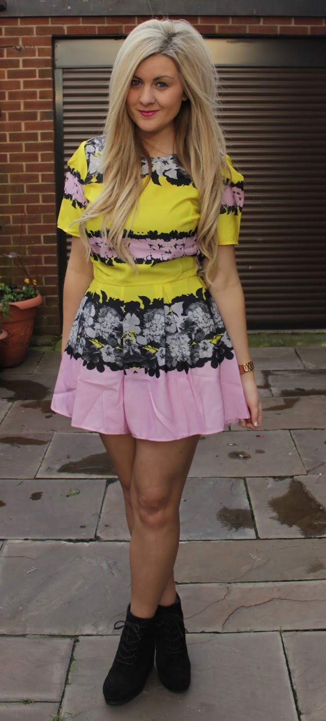 bold print, fashion blog, floral, playsuit, through chelsea's eyes, topshop,