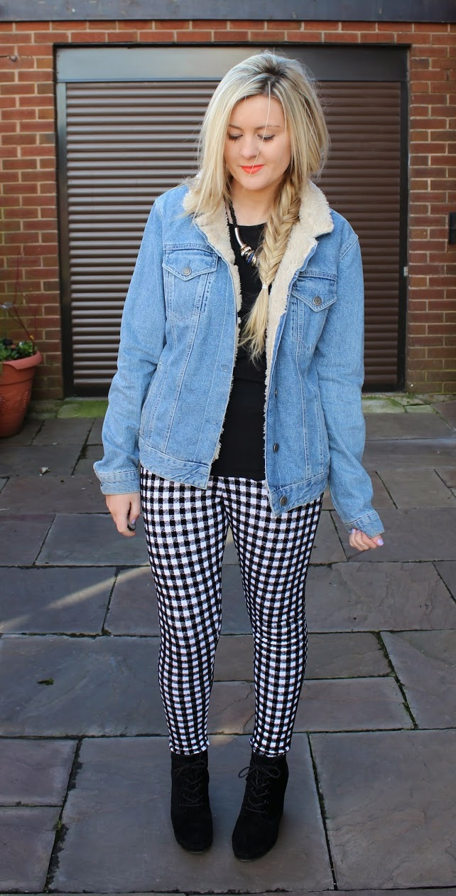 gingham trousers, gingham, ootd, casual fashion, through chelsea's eyes,