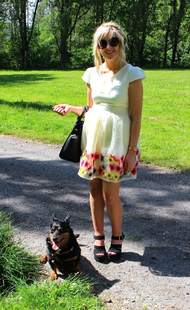 fashion blog, skater dress, floral, summer dress, spring dress, Michael Kors Selma Bag, ootd, through chelsea's eyes, sheinside
