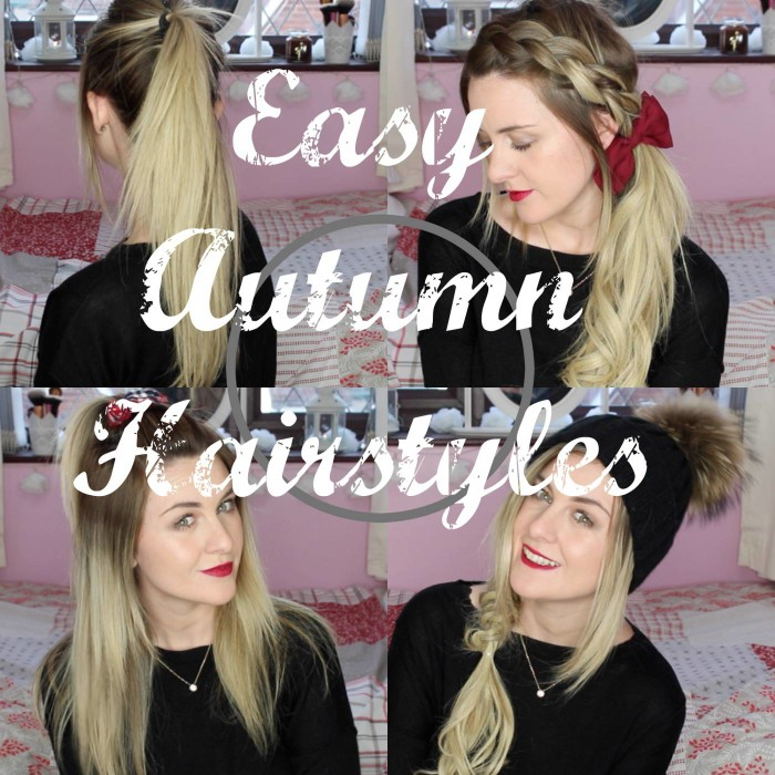 Quick and Simple Autumn Hairstyles
