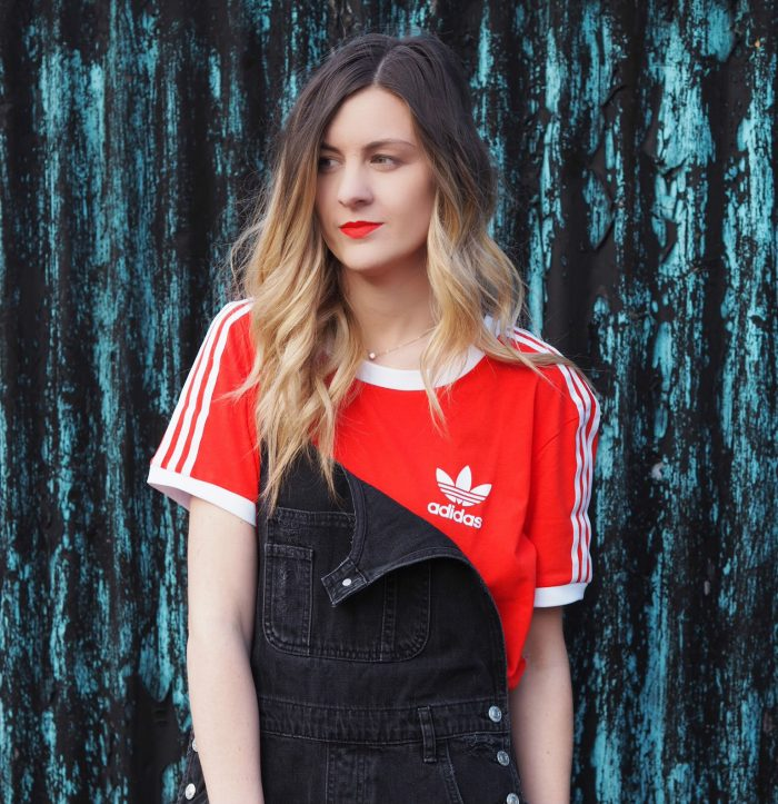 Adidas and dungarees