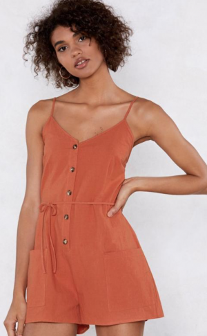 Rust Playsuit